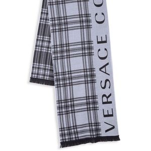 Versace Collection Striped Logo Scarf NWT